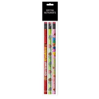 3-Pack Full Color Wood Pencils