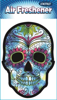Blue Space Sugar Skull Air Freshener