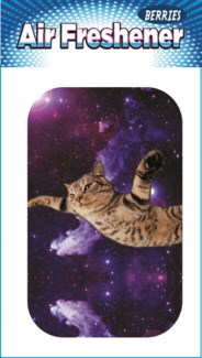 Cat Flying in Space Air Freshener