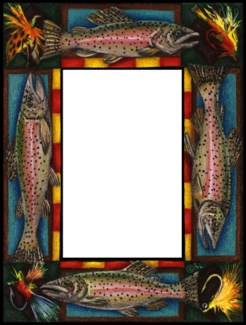 Magnetic frame salmon