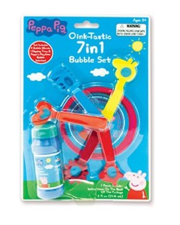 PEPPA PIG 7 IN 1 BUBBLE SET