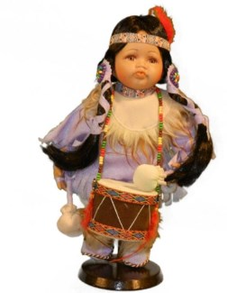 "12"" Indian Doll in Window Box"