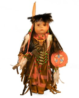 "16"" Indian Doll in Window Box"