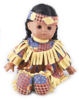 Soft Native American Doll 12H, Box of 6