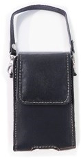 "Black leather phone case 2.75"" X 5"""
