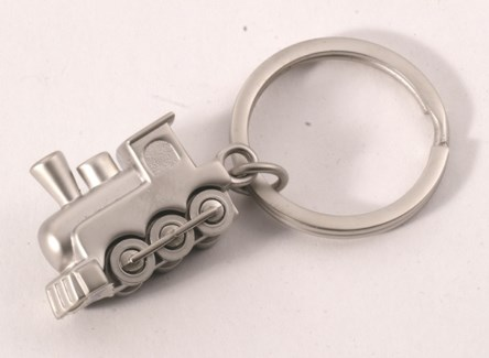 SIL TRAIN KEY RING