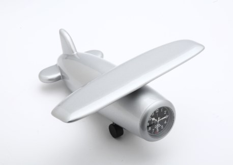 SIL WOODEN HI WING PLANE CLOCK