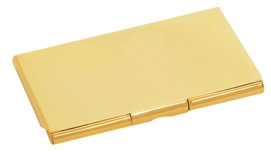 GOLD BRASS BUSINESS CARD CASE