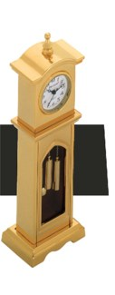 GOLD GRANDMOTHER DESK CLOCK