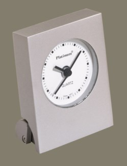 SIL DESK CLOCK W/ALARM