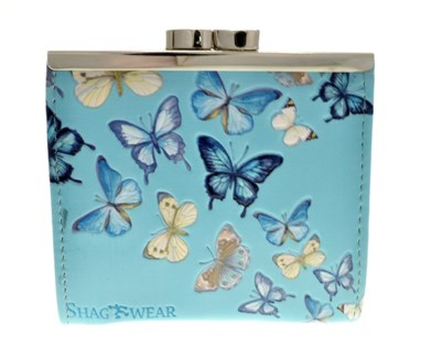 Butterflies Change Purse Sky Blue