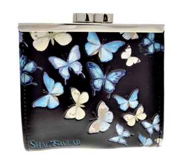 Butterflies Change Purse Black