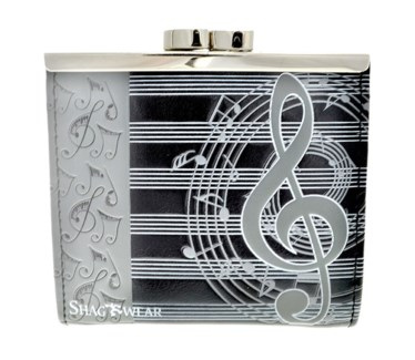Musical Change Purse Black w/ Grey