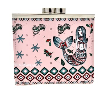 Mermaid Garden Change Purse Pink