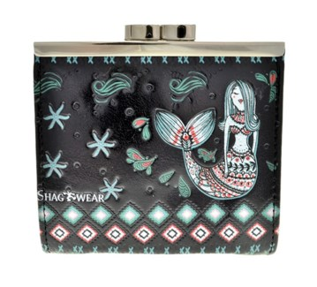 Mermaid Garden Change Purse Black