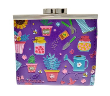 Gardening Change Purse Purple
