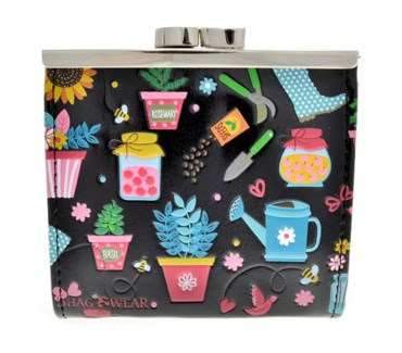 Gardening Change Purse Black