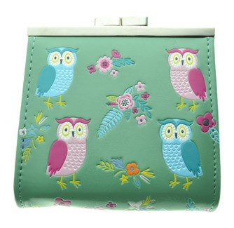 Owl Gearden Change Purse Lt. Teal