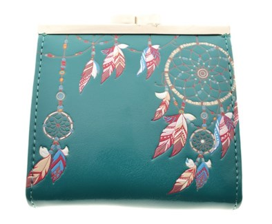 Dream Catcher Change Purse Teal