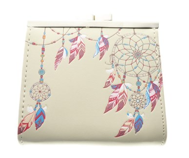 Dream Catcher Change Purse Cream