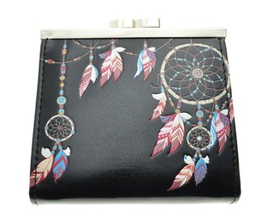 Dream Catcher Change Purse Black