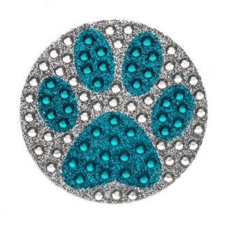 "Blue Paw Print 2"" StickerBean"