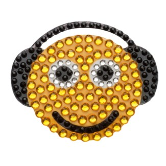 "Smiley w/ Headphones 2"" StickerBean"