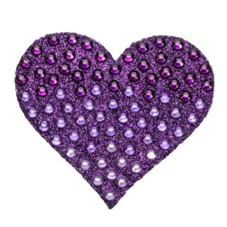 "Purple Ombre Heart 2"" StickerBean"