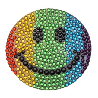 "Rainbow Smiley 2"" StickerBean"