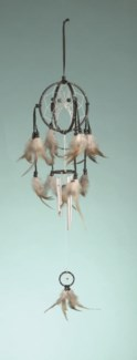 "DOUBLE DREAM CATCHER WINDCHIME, 4"", ASSORTED COLORS"