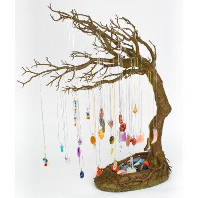 FOREST-TUNDRA WINDSWEPT TREE GEM NECKLACE COUNTER DEAL