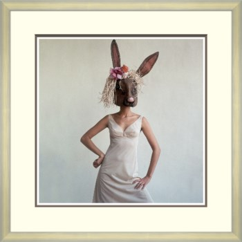 Model with Rabbit Mask