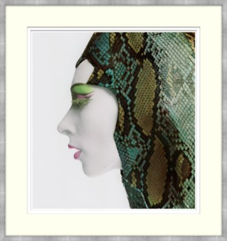 Woman with Snake Skin Hat