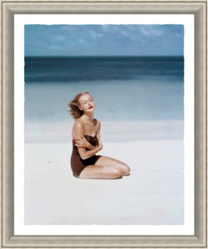 Woman on White Sand Beach