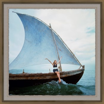 "Vogue Magazine, ""Girl on Greek Sailboat,"" Franco Rubartelli, January 1968"