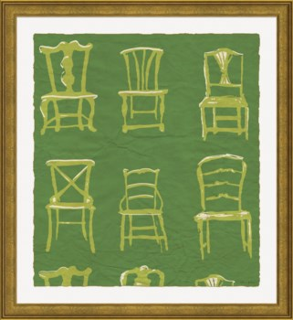 Painted Chairs in Green