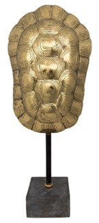 Turtle Shell on Stand, Brass