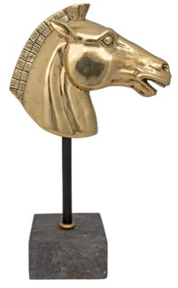 Horse on Stand, Brass