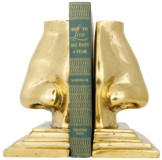 Nose Bookends, Brass