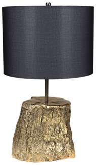 Block Table Lamp w/ Shade, Solid Brass