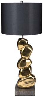 Remote Table Lamp w/ Shade, Solid Brass