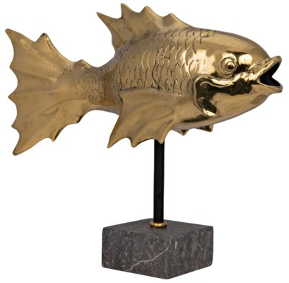 Fish On Stand, Brass
