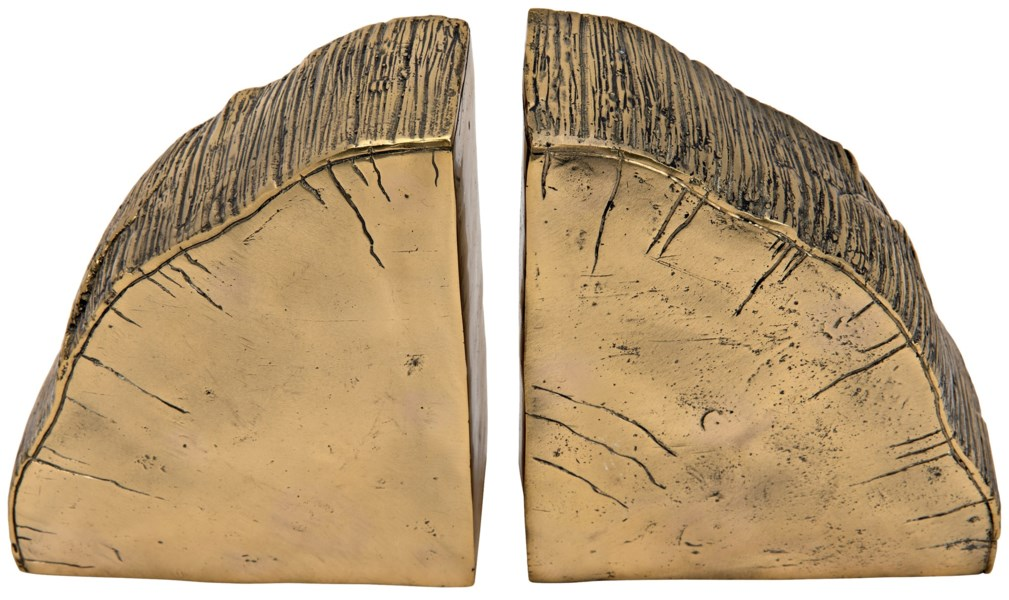 Fossil Bookends, Brass