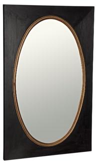 Royal Mirror, Charcoal Black w/Gold Trim
