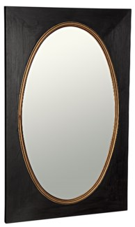 Royal Mirror, Charcoal Black w/Gold Trim