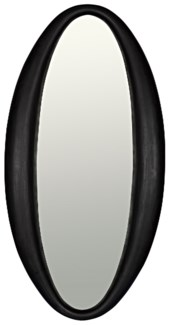 Woolsey Mirror, Charcoal Black