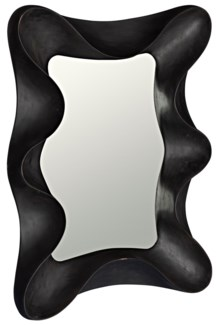 Concave Mirror, Charcoal Black