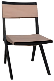 Hyde Chair w/Leather, Charcoal Black