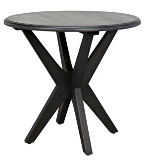 Fox Side Table, Charcoal Black