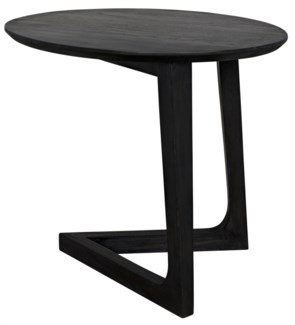 Cantilever Side Table, Charcoal Black